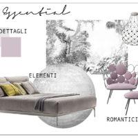 Una camera da letto essenziale e raffinata